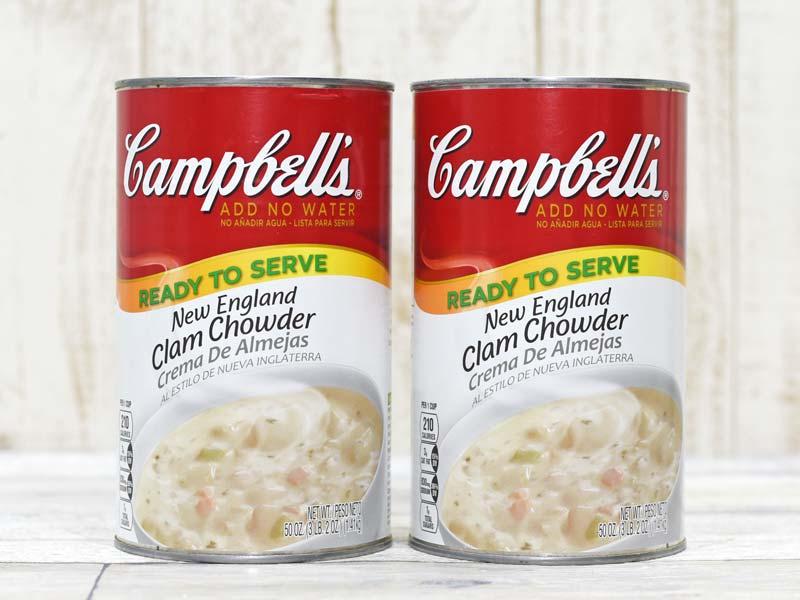 クラム チャウダー カロリー コストコ コストコ名物のクラムチャウダー! キャンベル大缶のサイズや価格は?
